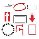 Insieme degli elementi di disegno di vettore Fotografie Stock Libere da Diritti