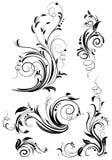 Insieme degli elementi di disegno floreale. Fotografie Stock Libere da Diritti