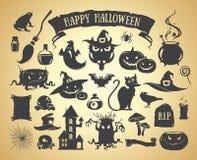 Insieme degli elementi di Halloween Immagine Stock