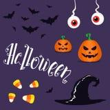 Insieme degli elementi di Halloween Illustrazione di vettore Immagini Stock Libere da Diritti