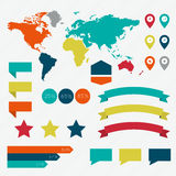 Insieme degli elementi di infographics nello stile piano moderno di affari Fotografia Stock Libera da Diritti