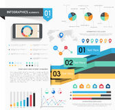 Insieme degli elementi di infographics per l'affare Immagini Stock Libere da Diritti