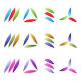 Insieme degli elementi di logo Fotografia Stock