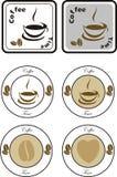 Insieme degli elementi di progettazione del caffè Fotografia Stock Libera da Diritti