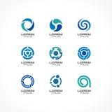 Insieme degli elementi di progettazione dell'icona Idee astratte di logo per i concetti della società di affari Fotografie Stock Libere da Diritti