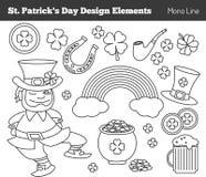 Insieme degli elementi di progettazione di giorno di Patricks del san Fotografie Stock Libere da Diritti