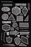 Insieme degli elementi di progettazione di lerciume di forme del gesso di vettore Fotografia Stock
