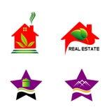 Insieme degli elementi di progettazione di logo Fotografie Stock Libere da Diritti