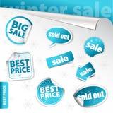 Insieme degli elementi di vendita di inverno () Fotografie Stock