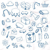 Insieme degli elementi disegnati a mano Immagine Stock