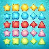 Insieme degli elementi e dei simboli dei bottoni per l'interfaccia e il comput di web Fotografia Stock