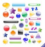Insieme degli elementi e delle icone di Web. illustrazione di stock