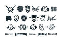 Insieme degli elementi grafici sul tema di baseball royalty illustrazione gratis