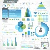 Insieme degli elementi infographic di affari Immagini Stock