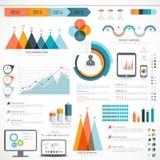 Insieme degli elementi infographic di affari Fotografia Stock