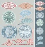 Insieme degli elementi orientali di disegno Fotografia Stock Libera da Diritti