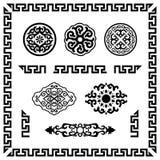 Insieme degli elementi ornamentali Fotografia Stock