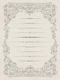 Insieme degli elementi per il disegno astratto del certificato Fotografia Stock Libera da Diritti