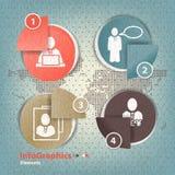 Insieme degli elementi per il infographics nella carta della forma Fotografie Stock