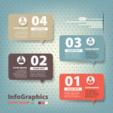 Insieme degli elementi per il infographics nello speec della forma Fotografia Stock Libera da Diritti