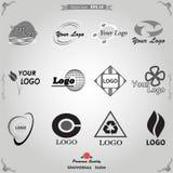 Insieme degli elementi per il vettore di progettazione di logo Fotografie Stock