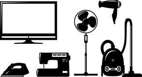 Insieme degli elettrodomestici Fotografia Stock Libera da Diritti