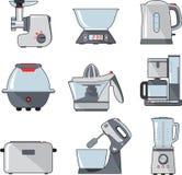 Insieme degli elettrodomestici da cucina della famiglia Immagini Stock Libere da Diritti