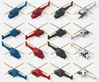 Insieme degli elicotteri Immagini Stock Libere da Diritti