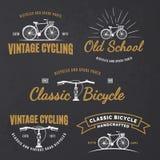 Insieme degli emblemi d'annata della bicicletta della strada Immagine Stock