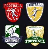 Insieme degli emblemi d'annata di calcio Immagine Stock Libera da Diritti