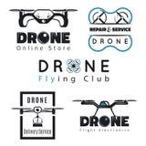 Insieme degli emblemi del quadrocopter Fotografia Stock