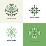 Insieme degli emblemi di progettazione dell'estratto di flourish Immagini Stock Libere da Diritti