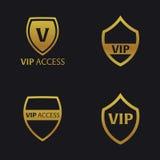 Insieme degli emblemi di VIP con lo schermo Illustrazione di lusso di vettore illustrazione vettoriale