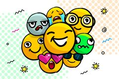 Insieme degli emoticon di sorriso illustrazione di stock