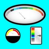 Insieme degli indicatori con l'indicatore spettrale colorato Fotografie Stock