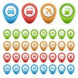 Insieme degli indicatori di trasporto Fotografia Stock