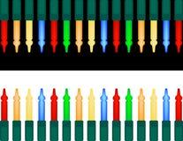 Insieme degli indicatori luminosi di natale variopinti Fotografia Stock