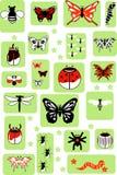 Insieme degli insetti di vettore Immagini Stock Libere da Diritti