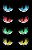 Insieme degli occhi diabolici Fotografia Stock
