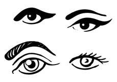 Insieme degli occhi differenti Immagini Stock