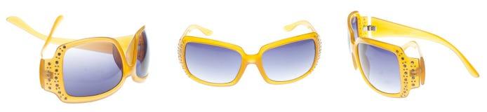 Insieme degli occhiali da sole arancioni moderni Fotografia Stock Libera da Diritti