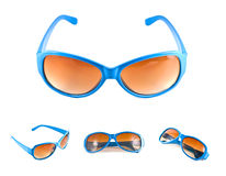 Insieme degli occhiali da sole blu Fotografia Stock