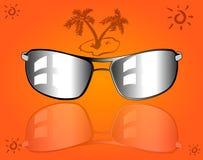 Insieme degli occhiali da sole e degli occhiali Fotografia Stock