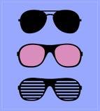 Insieme degli occhiali da sole Fondo dell'illustrazione Fotografie Stock