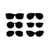 Insieme degli occhiali da sole freschi e d'avanguardia Fotografia Stock Libera da Diritti
