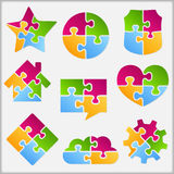 Oggetti di puzzle Immagine Stock
