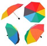 Insieme degli ombrelli multicolori aperti Immagine Stock Libera da Diritti