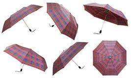 Insieme degli ombrelli a quadretti telescopici Immagine Stock