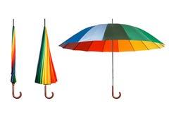 Insieme degli ombrelli variopinti Immagini Stock