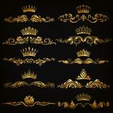 Insieme degli ornamenti del damasco Fotografia Stock Libera da Diritti